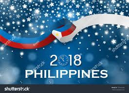 philippines new year 2018 national greeting stock vector 753452995