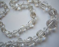 vintage rock crystal necklace images Jewels collecting dust beads JPG