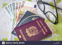 Map A Trip Planning A Trip Italian And Brazilian Passport On City Map With