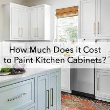 what is the cost of new cabinets how much does it cost to paint kitchen cabinets