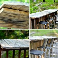 Building Outdoor Furniture What Wood To Use by 26 Super Cool Inexpensive Outdoor Bars For Your Home