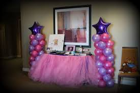 purple baby shower decorations pink purple turquoise it s a girl baby shower party ideas photo