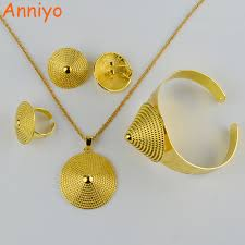 bridal gold ring aliexpress buy anniyo gold jewelry set necklace