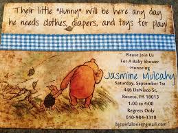 classic winnie pooh baby shower invitations classic winnie