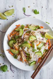 lemongrass chicken noodle salad healthy nibbles u0026 bits
