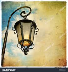 Old Lantern Light Fixtures by Old Lantern Picture Retro Style Stock Illustration 43689526