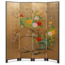 Asian Room Divider 19th Century Oriental Three Fold Screen Best