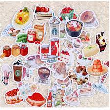 scrapbooking cuisine 32pcs creative kawaii self made watercolor food drink