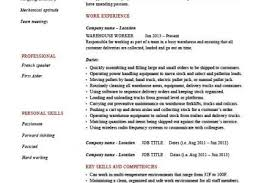 Warehouse Job Titles Resume by Warehouse Job Resume Sample Reentrycorps