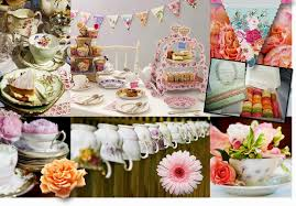 Tea Party Table by Vintage Party Centerpieces Zamp Co