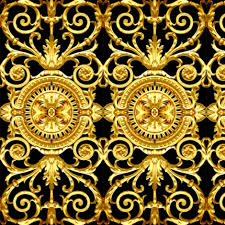 gold flowers filigree baroque rococo black gold flowers floral leaves leaf