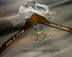 personalized wedding dress hangers on etsy by originalbridalhanger