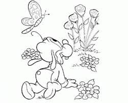 black and white drawing of garden coloring page children kids