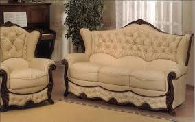 Leather Sofa Wooden Frame Furniture Italian Sofa Furniture With Thick Sofa Couch Combine