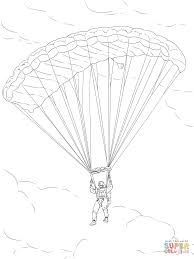 army parachute coloring page free printable coloring pages