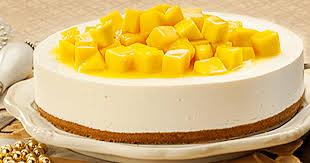 no bake mango cheesecake create with cream