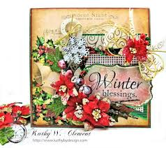 winter blessings vintage style christmas card kathy by design