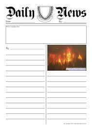report writing template ks1 newspaper writing frames and printable page borders ks1 ks2 with