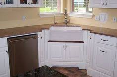 Kitchen Corner Cabinets Options by Corner Farmers Sink Befon For