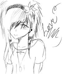 easy anime drawings emo love sketch by thelovelyproblem on