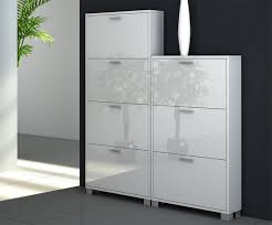 White Shoe Cabinet With Doors by Fabulous White Shoe Cabinet With Rattan Basket Design Feat Unique