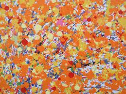 tree art painting on large canvas with orange redlark art