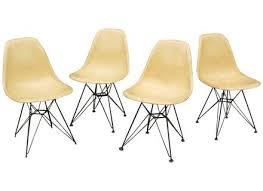 Collectibles Vintage Antique Eames Side Chair Yellow Fiberglass