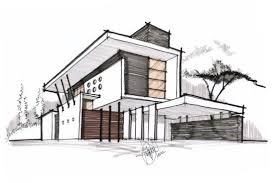 modern house architecture sketch home act