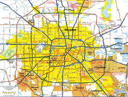 of houston cus map houston map highways maps of usa