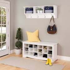 Entryway Home Decor Decor White Metal Entryway Shelf With Hooks For Home Furniture Ideas