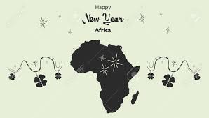 africa map by year happy new year illustration theme with map of africa royalty free