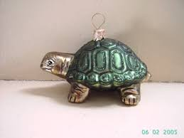 blown glass tortoise turtle tree ornament decoration or