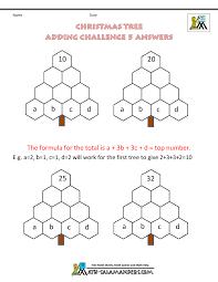 christmas math worksheets harder