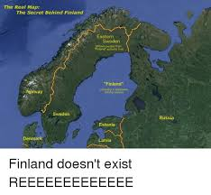 Norway Meme - the real map the secret behind finland norway finland does not
