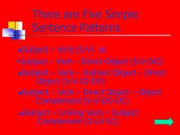 identify sentence pattern english grammar understanding sentence structure california language arts standard