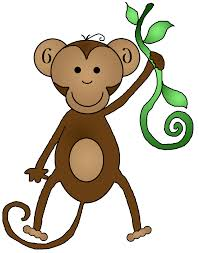 hanging monkey free clipart images the cliparts