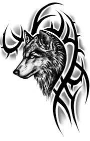 tribal wolf design by instilledphear on deviantart