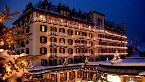 Hotel Mont Cervin Palace In Zermatt Switzerland White Blancmange