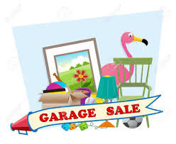 garage sale cute garage sale with household items in