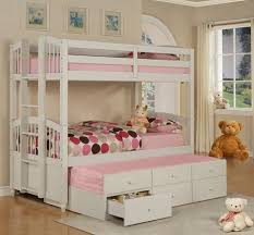 Girls Bunk Beds With Storage Arlene Designs - White bunk bed with drawers