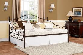 bed white metal daybed with trundle exquisite 3ft single white