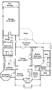 Colonial House Floor Plans by Southern Style House Plan 4 Beds 25 Baths 2200 Sqft Plan 21 264