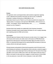 sample non compete agreement 25 best contract agreement ideas on