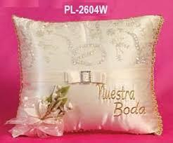 wedding kneeling pillows mexican wedding satin ring pillow ivory nuestra boda ring pillow