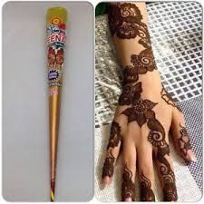 zeenat henna mehndi tattoo kit cones pen fresh hand made heena