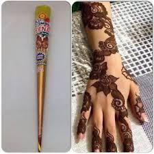 zeenat henna mehndi tattoo kit cones pen fresh hand made heena