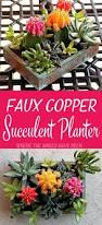 How To Make A Succulent Planter How To Make An Upcycled Faux Copper Succulent Planter