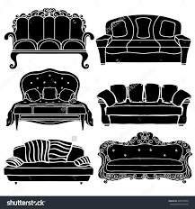 luxury modern sofa and couch icons set vintage furniture save to a