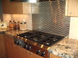 kitchen tin tiles for kitchen backsplash combined with brown