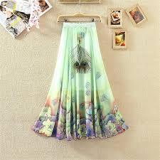 moda boho 2017 moda boho alta cintura falda blanco gasa largo verano
